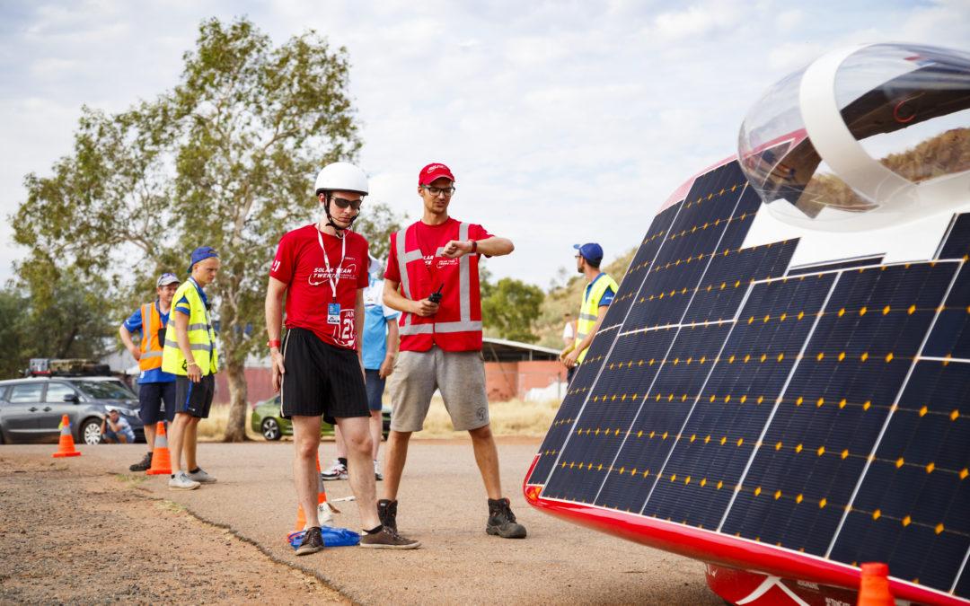 Solar Team Twente bereikt op tweede racedag top drie