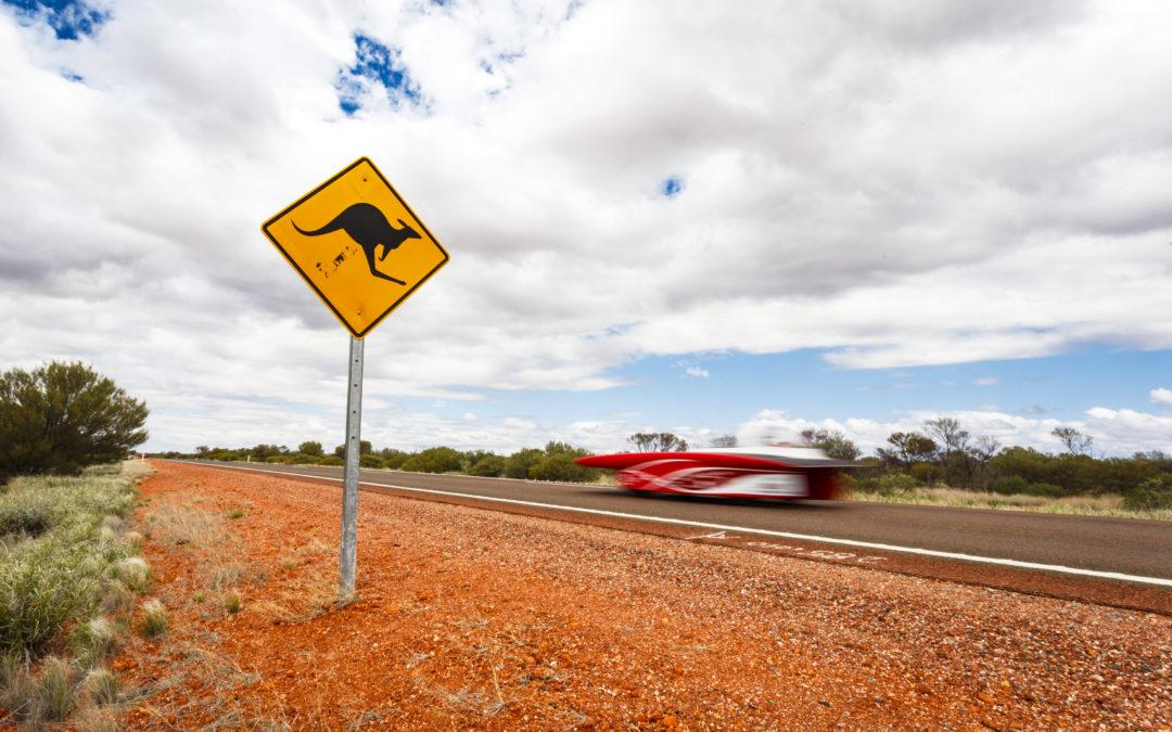 Het dondert en het bliksemt in Australië