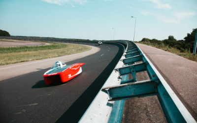 Take a look at the convoy: solar car RED E