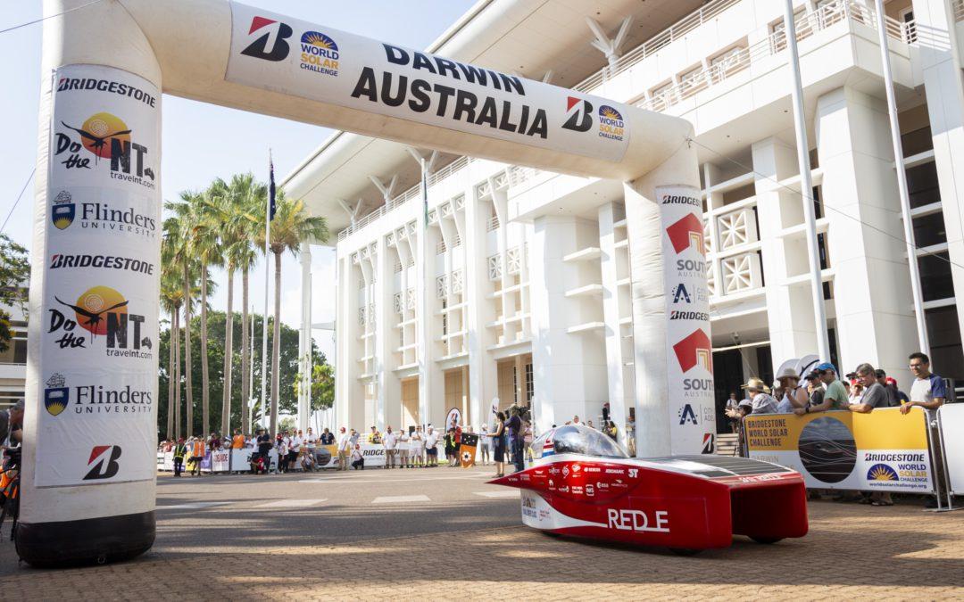 Solar Team Twente aan kop na eerste racedag