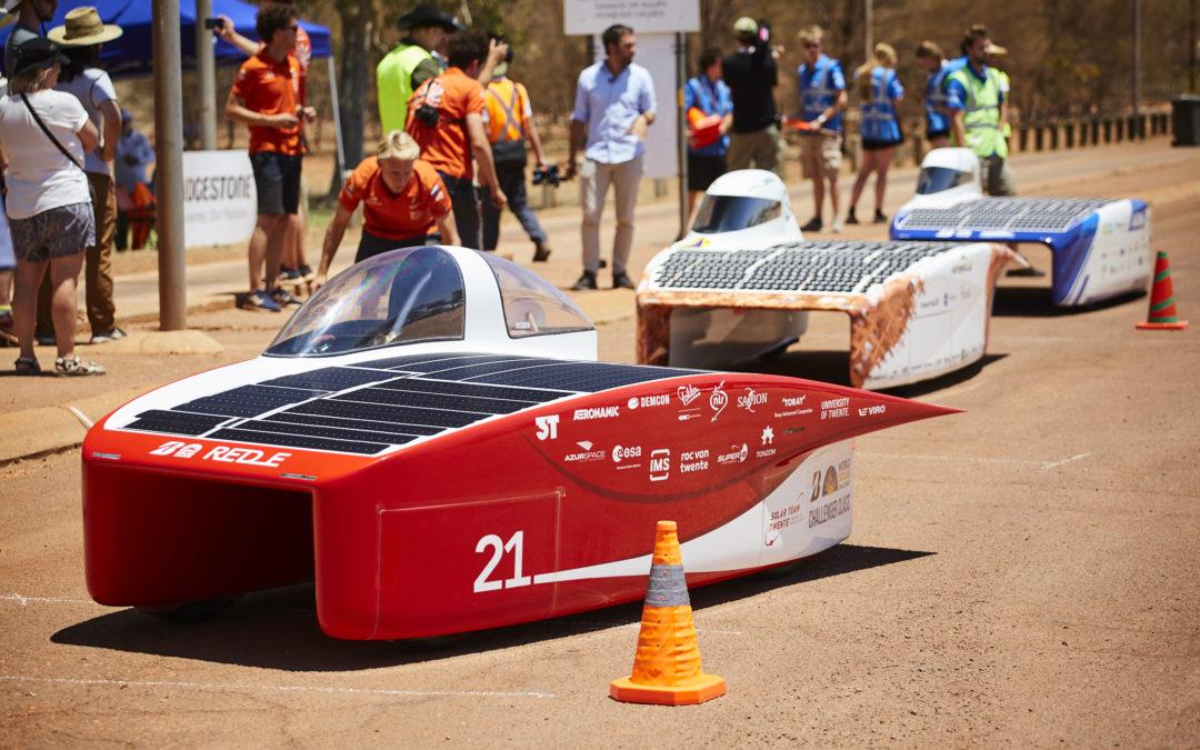 Solar Team Twente ook na tweede racedag aan kop in Australië