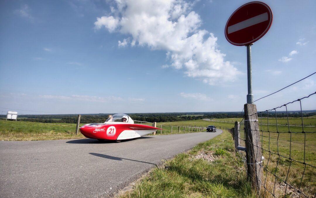 Laatste testdag in Nederland voor Solar Team Twente op VAM-berg voor heuveltest