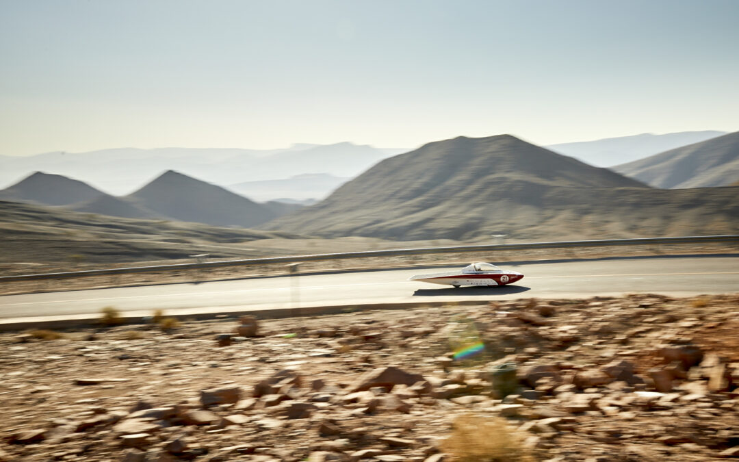 Solar Team Twente sets fastest time and shortens distance to leader in Morocco after tough stage