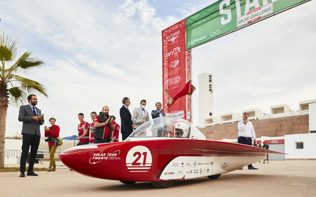 Solar Team Twente in second position in Solar Challenge Morocco after eventful first day